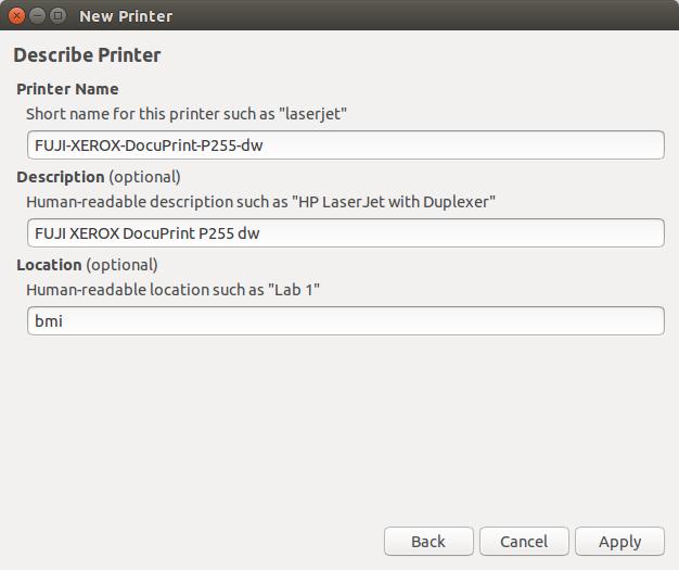 Menginstall Printer Fuji Xerox DocuPrint P255 DW di Ubuntu Linux