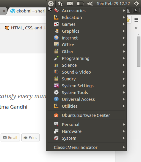 Classic menu indicator on Ubuntu 14.04 LTS