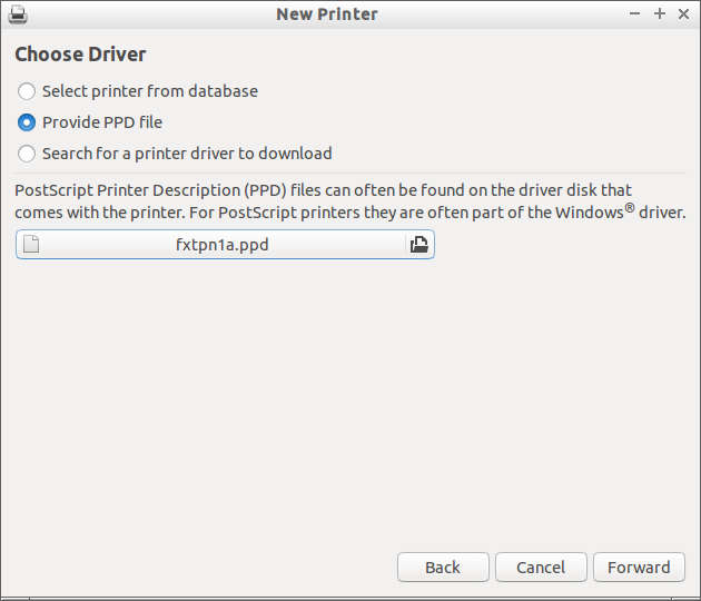 Provide PPD file