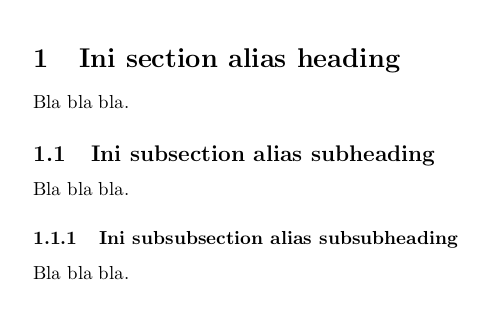 Section, subsection, dan subsubsection