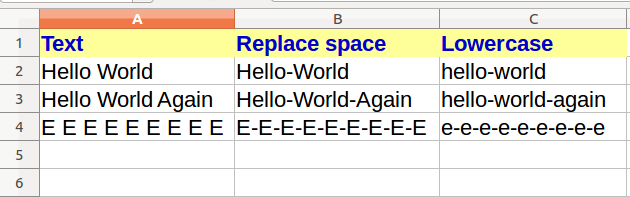Substitute space with other character