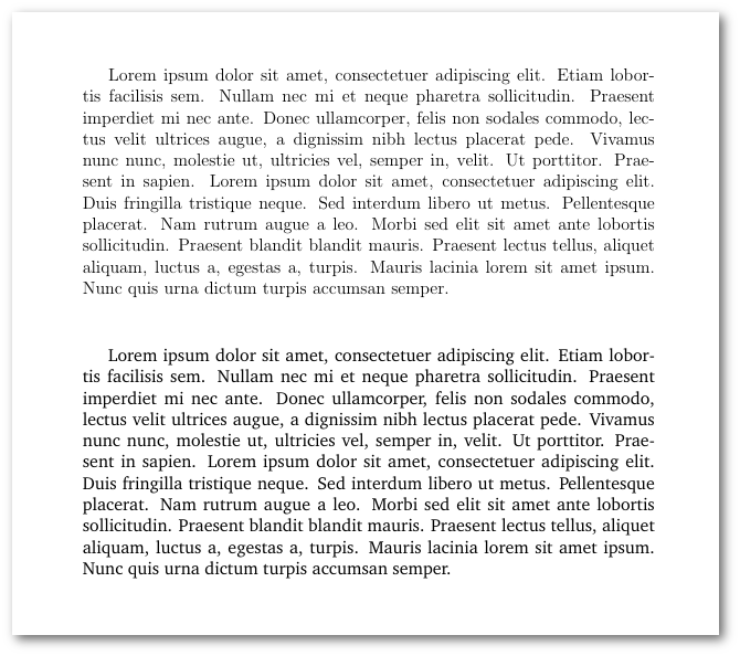 Default font (atas) dan Charter font