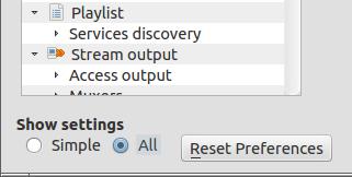 Reset VLC
