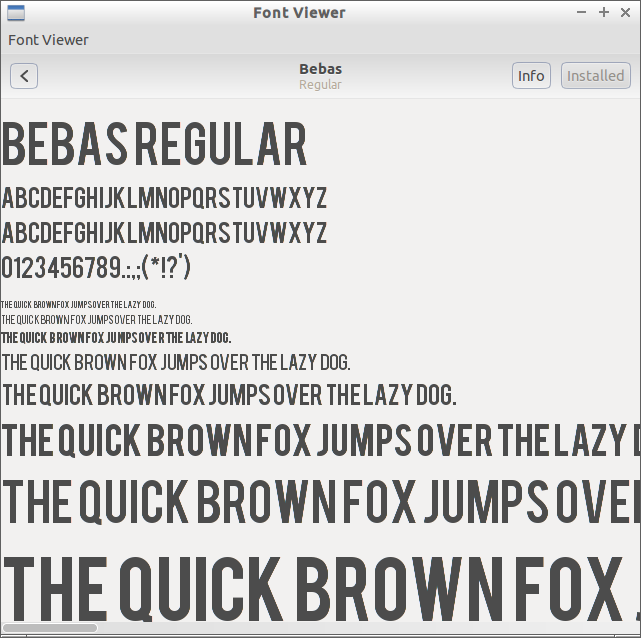 Gnome Font Viewer