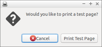 Would you like to print a test page?